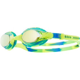 TYR Swimple Tie Dye Mirrored Goggles Kids Gold/Green